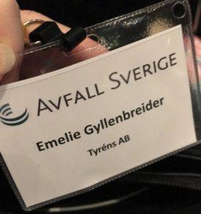 Avfall Sveriges höstmöte namnbricka