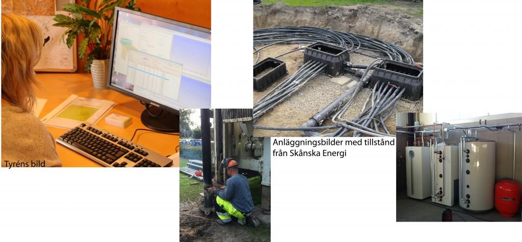 Från skrivbord till färdig geoenergianläggning.