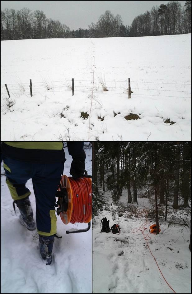 Storskalig mätning i svår terräng under vintern.