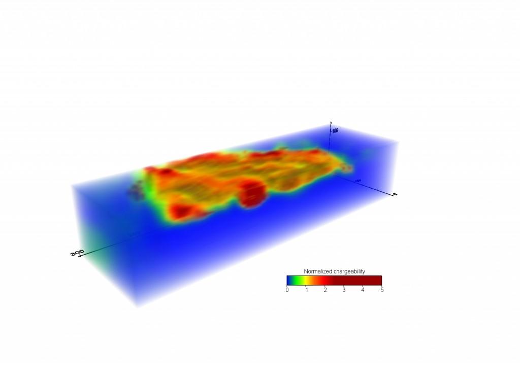 Utbredningen av deponier kan framgångsrikt kartläggas med hjälp av geoelektriska mätmetoder (inducerad polarisation)