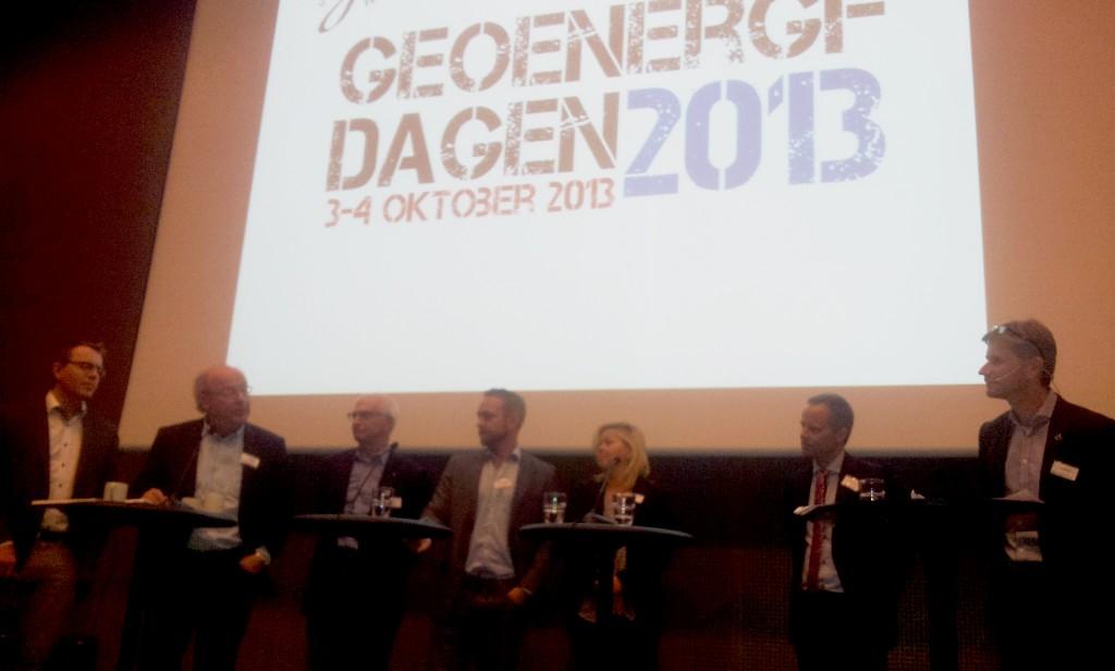 Paneldebatt på Geoenergidagen 2013