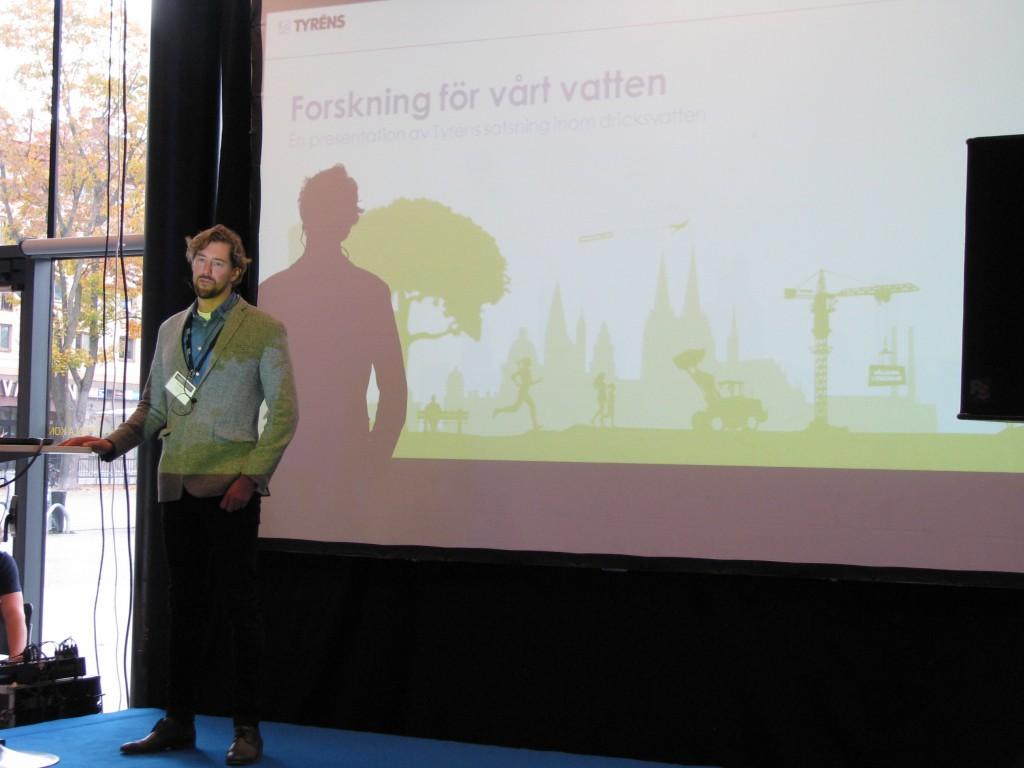 Lars Marklund pratar om Forskning för en säkrare dricksvattenförsörjning.