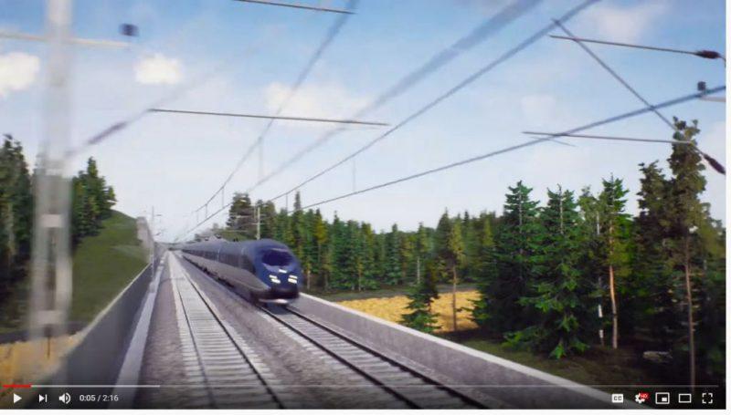 Bild från VR-film Ostlänken Gerstaberg-Långsjön
